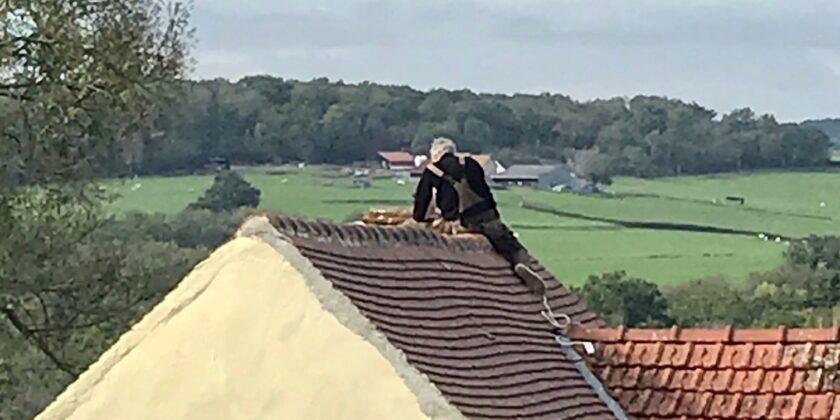 Travaux sur la cheminée